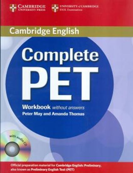 Picture of COMPLETE PET WORKBOOK WITH CD WITHOUT ANSWERS