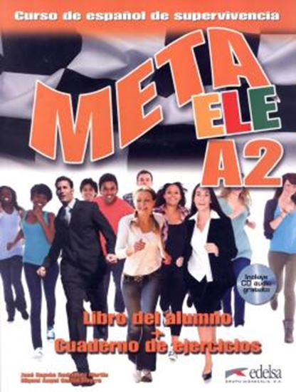 Picture of META ELE A2 LIBRO DEL ALUMNO + CUADERNO DE EJERCICIOS + CD