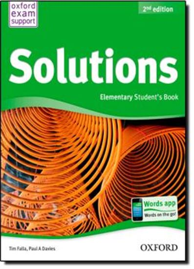 Picture of SOLUTIONS ELEMENTARY - STUDENT BOOK – 2ND EDITION