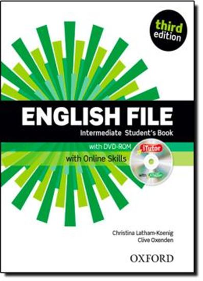 Picture of ENGLISH FILE INTERMEDIATE STUDENTS BOOK WITH ITUTOR AND ONLINE SKILLS - 3RD ED