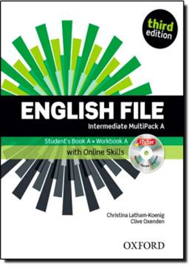 Picture of ENGLISH FILE INTERMEDIATE A MULTIPACK WITH ONLINE SKILLS - 3RD ED