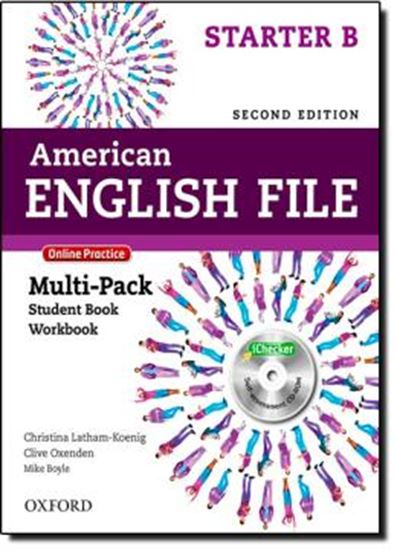 Picture of AMERICAN ENGLISH FILE STARTER B MULTIPK WITH  ONLINE PRACTICE AND ICHECKER - 2ND ED