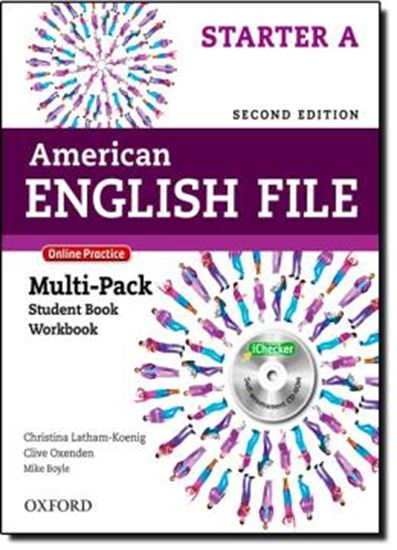 Picture of AMERICAN ENGLISH FILE STARTER A MULTIPACK WITH ONLINE PRACTICE AND ICHECKER - 2ND ED