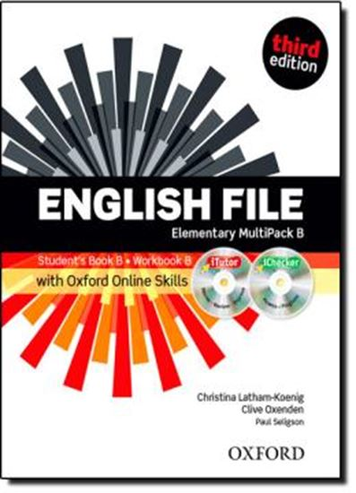 Picture of ENGLISH FILE ELEMENTARY B MULTIPACK WITH ITUTOR AND ONLINE SKILLS - 3RD ED