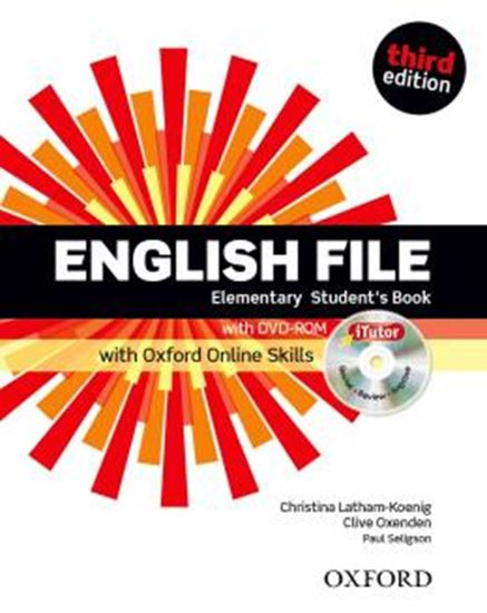 Picture of ENGLISH FILE ELEMENTARY STUDENTS BOOK WITH ITUTOR AND ONLINE SKILLS - 3RD ED