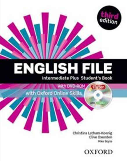 Picture of ENGLISH FILE INTERMEDIATE PLUS STUDENTS BOOK WITH ITUTOR AND ONLINE SKILLS - 3RD ED