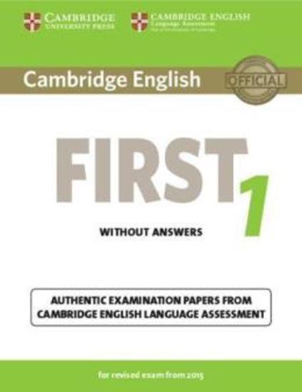 Picture of CAMBRIDGE ENGLISH FIRST 1 SB WITHOUT ANSWERS FOR REVISED EXAM FROM