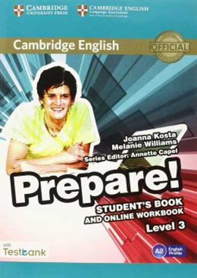 Picture of CAMBRIDGE ENGLISH PREPARE! 3 SB WITH ONLINE WB AND TESTBANK
