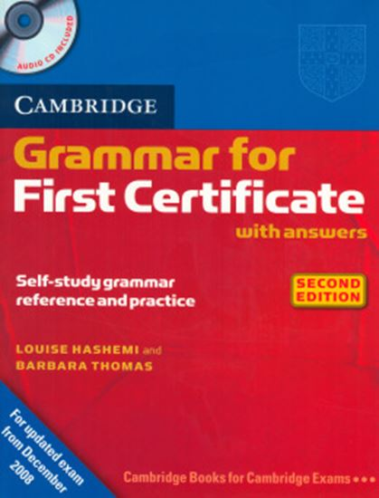 Picture of CAMBRIDGE GRAMMAR FOR FIRST CERTIFICATE WITH ANSWERS + CD - SECOND EDITION