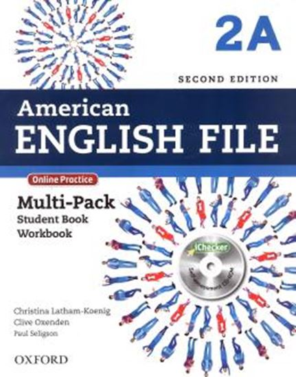 Picture of AMERICAN ENGLISH FILE 2A MULTIPACK WITH ONLINE PRACTICE AND ICHECKER - 2ND ED