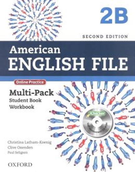 Picture of AMERICAN ENGLISH FILE 2B MULTIPACK WITH ONLINE PRACTICE AND ICHECKER - 2ND ED