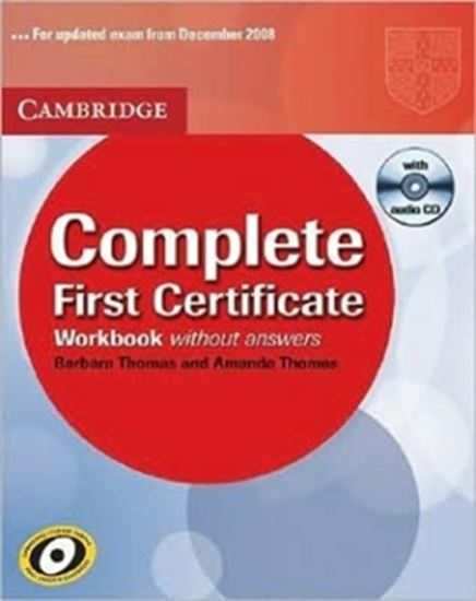 Picture of COMPLETE FIRST CERTIFICATE WORKBOOK WITH CD