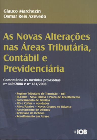 Picture of NOVAS ALTERACOES NAS AREAS TRIBUTARIA, CONTABIL E PREVIDENCIARIA, AS