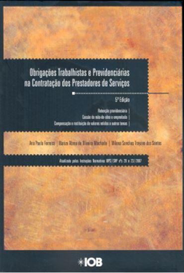 Picture of OBRIGACOES TRABALHISTAS E PREVIDENCIARIAS NA CONTRATACAO DE PRESTADORES DE SERVICOS  5ª EDICAO