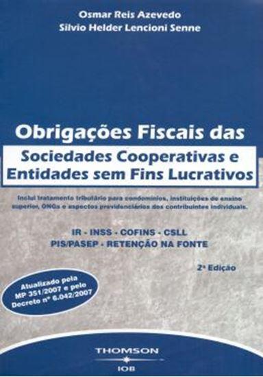 Picture of OBRIGACOES FISCAIS DAS SOCIEDADES COOPERATIVAS E ENTIDADES SEM FINS LUCRATIVOS  2ª EDICAO