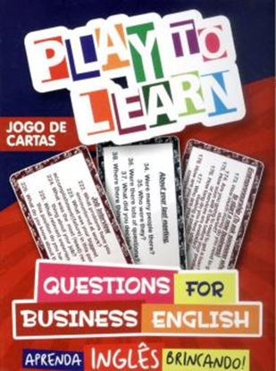 Imagem de PLAY TO LEARN - JOGO DE CARTAS QUESTIONS FOR BUSINESS ENGLISH