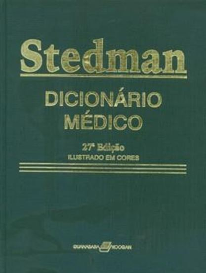 Picture of DICIONARIO MEDICO STEDMAN - INGLES/PORTUGUES -ILUSTRACAO EM CORES