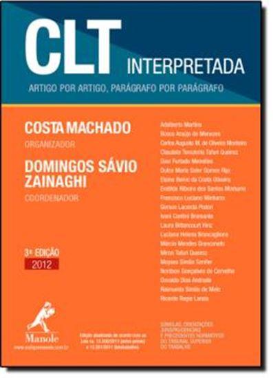 Picture of CLT INTERPRETADA - ARTIGO POR ARTIGO, PARAGRAFO POR PARAGRAFO - 3ª EDICAO/2011