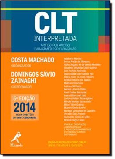 Picture of CLT INTERPRETADA - ARTIGO POR ARTIGO, PARAGRAFO POR PARAGRAFO - 5ª ED