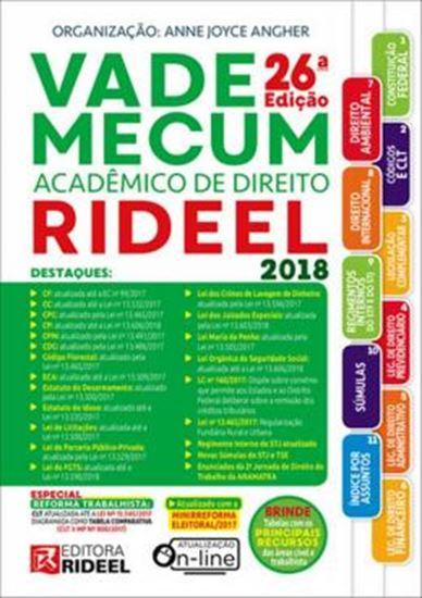 Picture of VADE MECUM ACADEMICO DE DIREITO RIDEEL 2018 - 1º SEMESTRE - 26ª ED