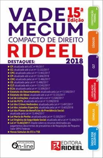 Picture of VADE MECUM COMPACTO DE DIREITO RIDEEL 2018 - 15ª ED