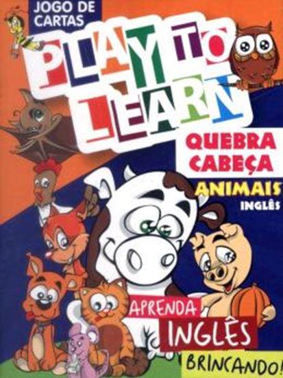 Picture of PLAY TO LEARN - JOGO DE CARTAS - QUEBRA-CABECA ANIMAIS